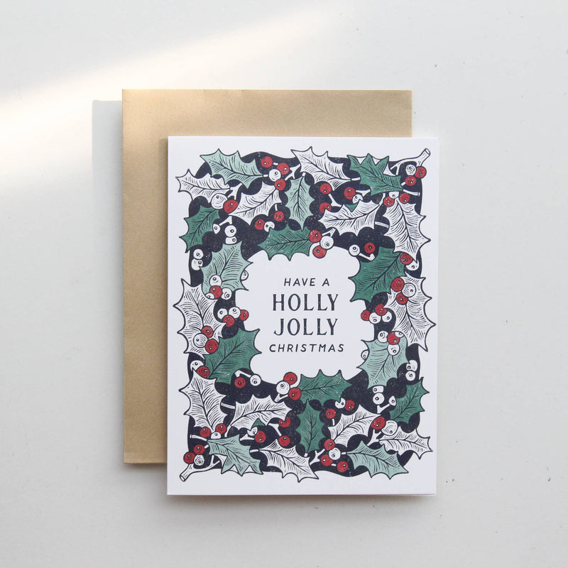 Holly Jolly Christmas - Holly Card