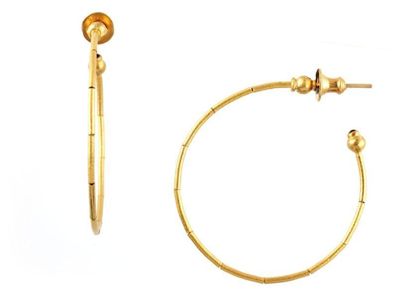 Rain Gold Hoop Earrings