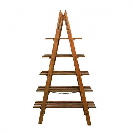 Vintage 5 Shelf Ladder Display