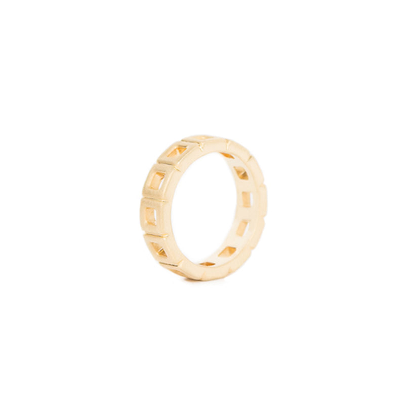 Gold Square Eternity Band