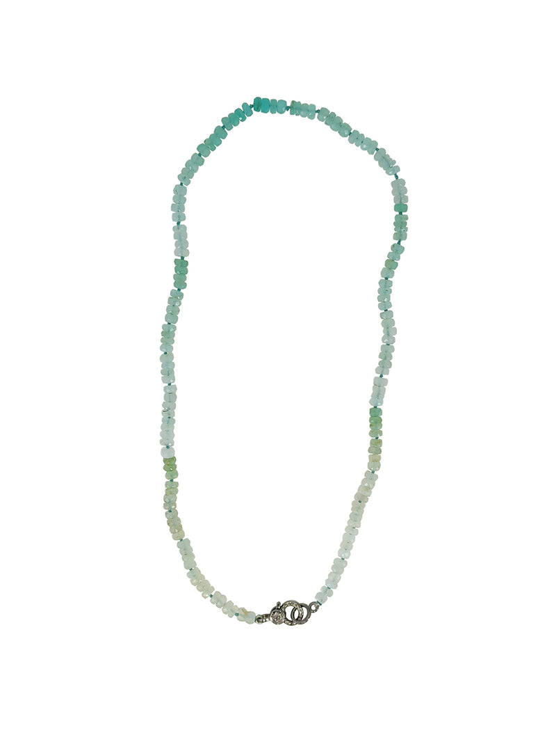 Hand Knotted Aquamarine Necklace