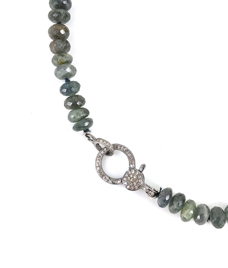 Faceted Moss Agate Necklace