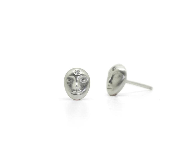Little Grey Lady Cameo Studs