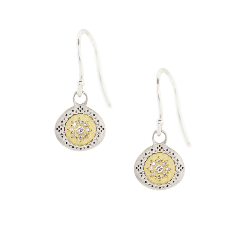 Diamond Seeds of Harmony Charm Earrings