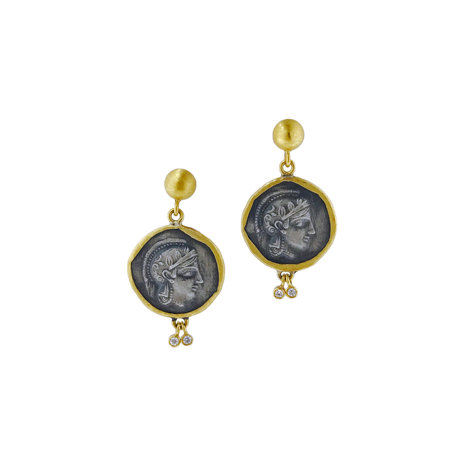 24K Gold Vintage Athena Earrings