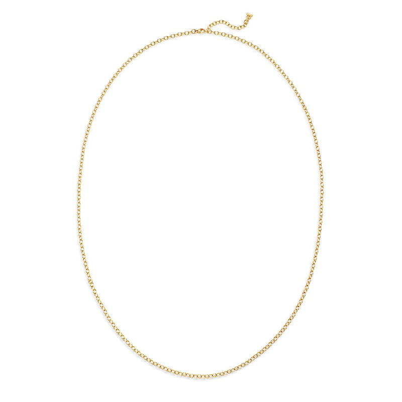 18K Extra Small Oval Chain 32''