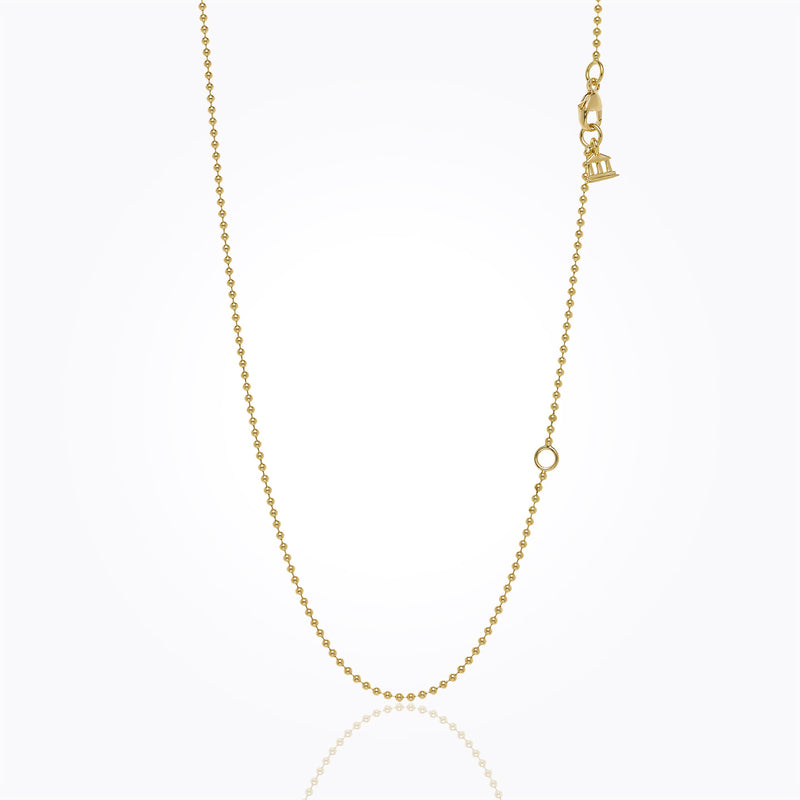 18K Ball Chain with 2'' Extender - 16-18''