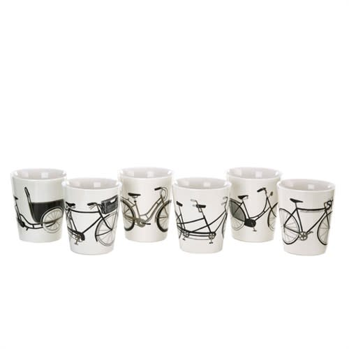 Bike Cups set of 6