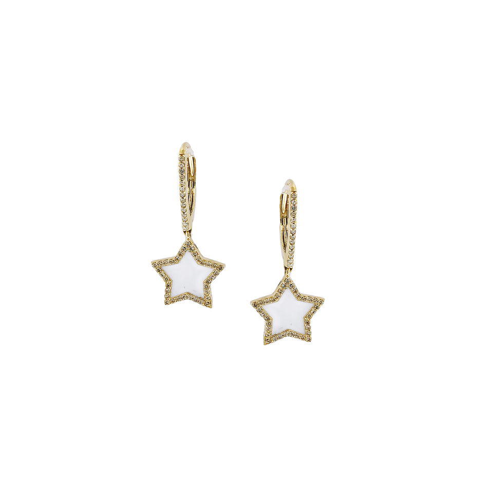 Enamel Gold Star Earrings