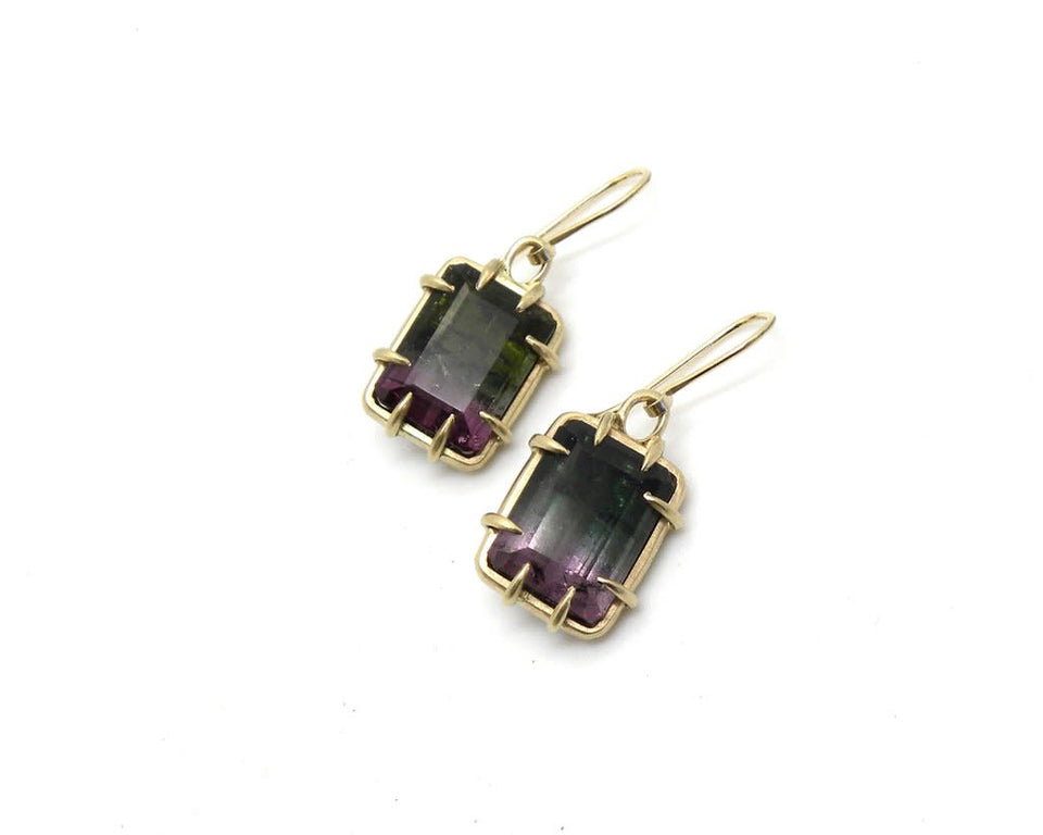 Maleficent Tourmaline Pyramid Vanity Earrings