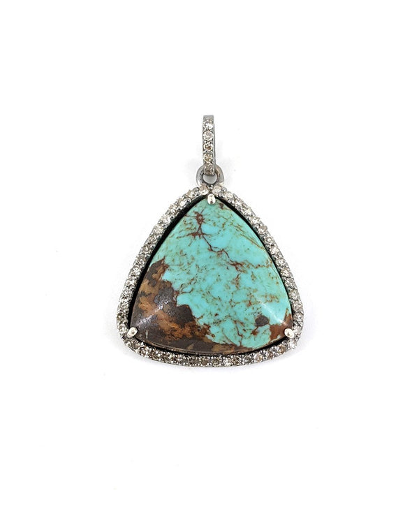 Small Triangle Turquoise Pendant
