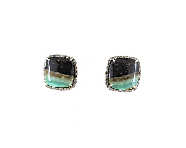 Petrified Opal Horizon Earrings