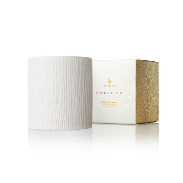 Frasier Fir Gilded Ceramic Candle