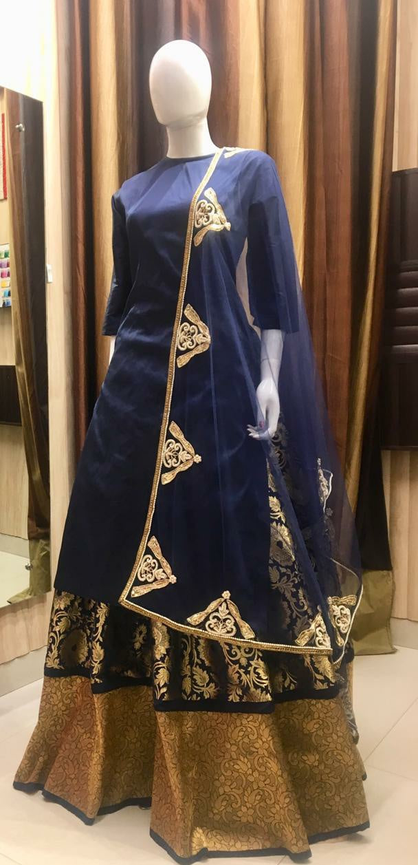 Blue Banarasi Suit