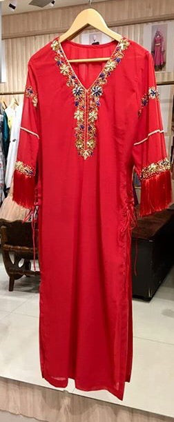 Red Party Kurti