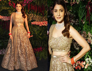 Golden Sequined Lehenga