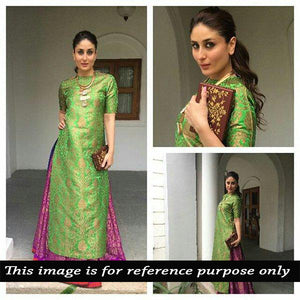 Green Brocade Dress