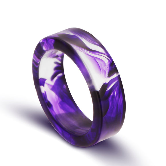 Handmade Hot Purple Resin Ring