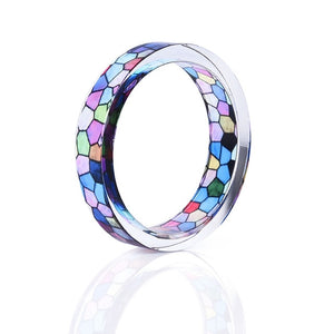 Handmade Stained Glass Resin Ring 3