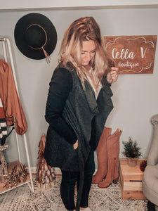 Black and Grey Two-Toned Jacket