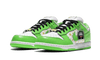 "SB Dunk Low Supreme ""Mean Green"" front"