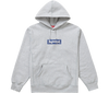"Supreme Bandana Box Logo Hooded Sweatshirt ""Gris"" front view"