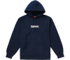 "Supreme Bandana Box Logo Hooded Sweatshirt ""Bleu Marine"" front view"