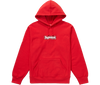 "Supreme Bandana Box Logo Hooded Sweatshirt ""Rouge"" front view"