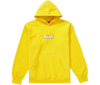 "Supreme Bandana Box Logo Hooded Sweatshirt ""Jaune"" front view"