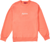 "Supreme Box Logo Crewneck ""Rose Fluorescent"""