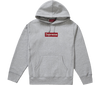 "Supreme Swarovski Box Logo Hooded Sweatshirt ""Gris"" bedazzled"