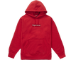 "Supreme Swarovski Box Logo Hooded Sweatshirt ""Rouge"""