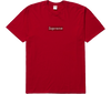 "Products Supreme Swarovski Box Logo Tee ""Rouge"" front"
