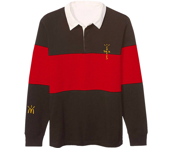 "Cactus Jack Rugby Polo ""Marron - Rouge"""