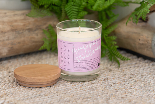 Champagne & Strawberry Medium Soy Candle