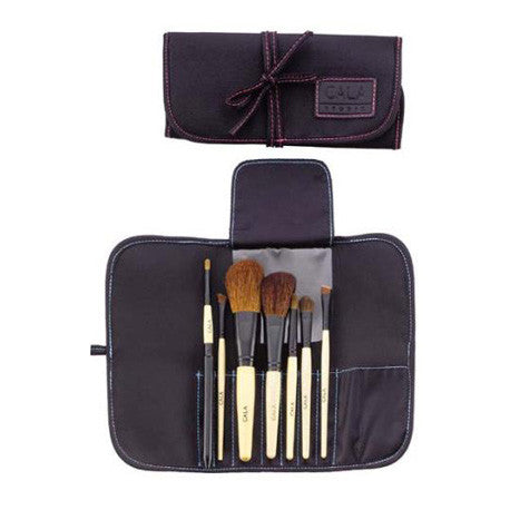 Cala 7 Piece Cosmetic Brush Collection with Black Pouch
