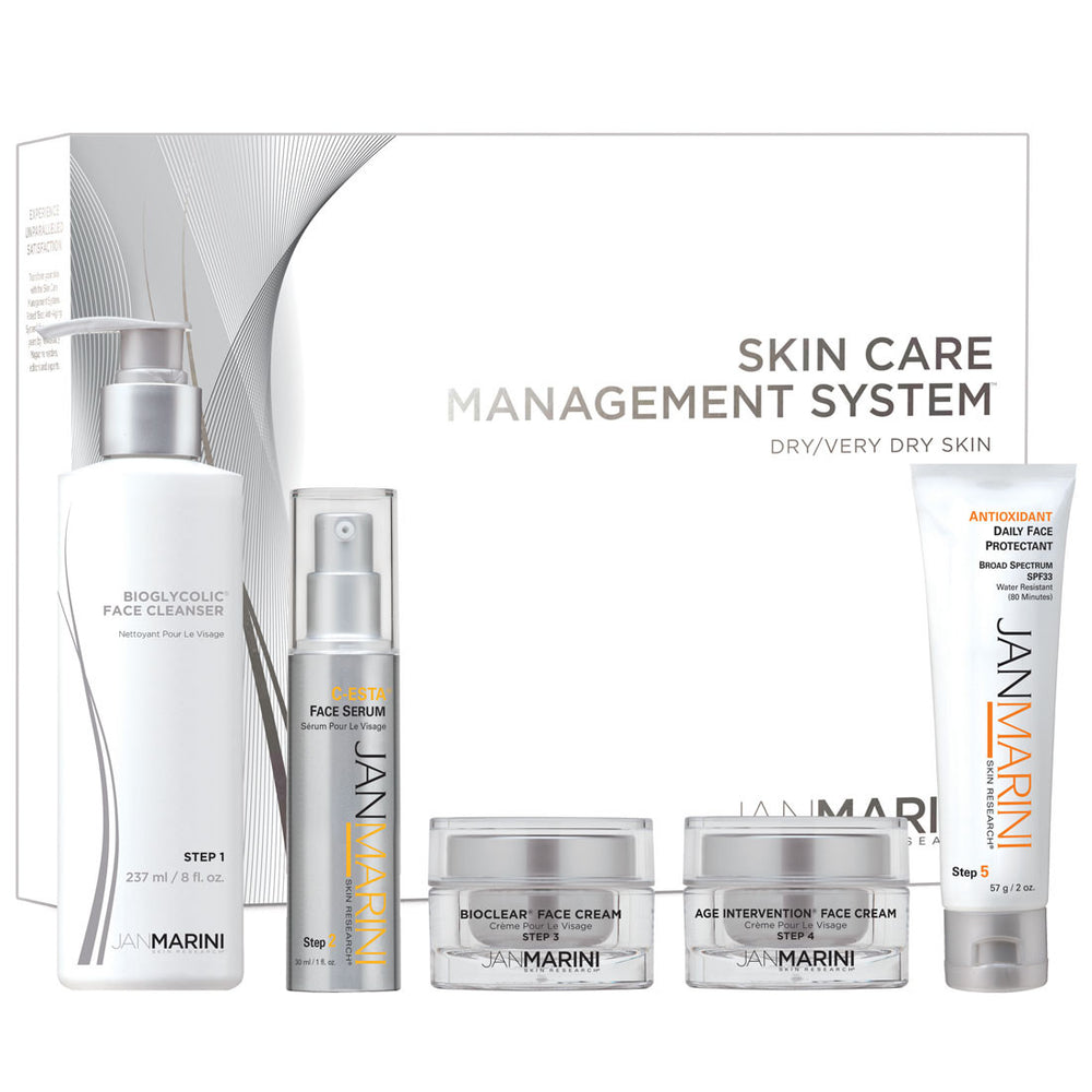 Jan Marini Skin Care Management System - DRY/VERY DRY SKIN (5 Pieces)