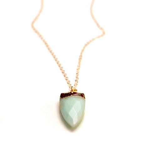 Mint Horn Necklace
