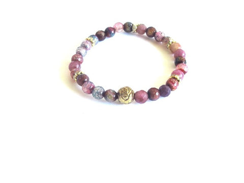 Mini Jasper Vintage Rose Bracelet in Pink