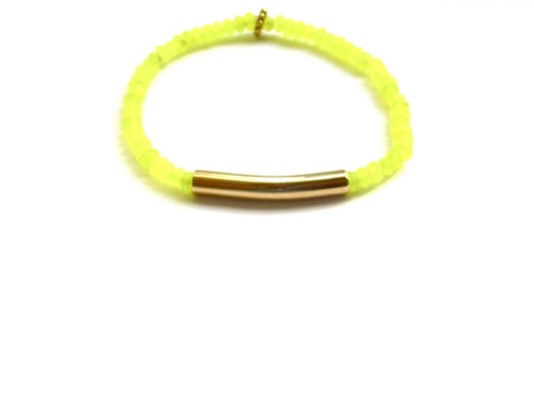 Rio Gold Bar Bracelet in Yellow