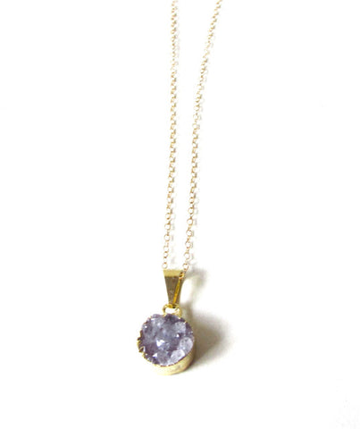 Trésor Quartz Druzy Necklace