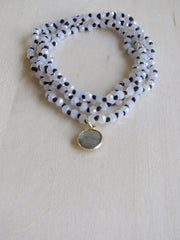 Knotted Wrap Bracelet in Mystic Gray