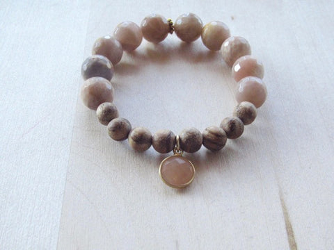 Rose Quartz Sunstone Bracelet