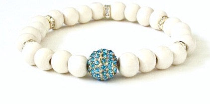 Light Wood Blue Stardust Bracelet