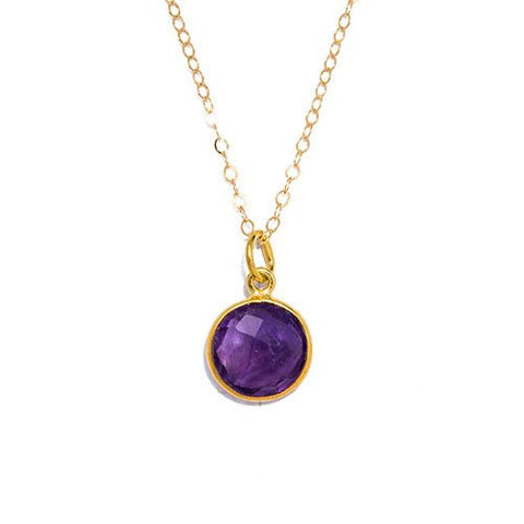 Gemstone Necklace in Amethyst