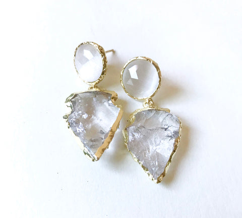 Arrowhead Quartz Earrings