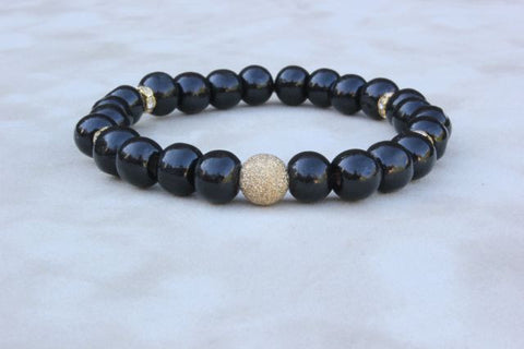 Black Wood Gold Dust Bracelet
