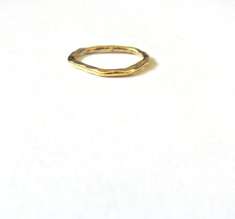 Gold Mid-Knuckle Ring