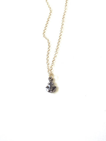 Mix Metal Anchor Necklace