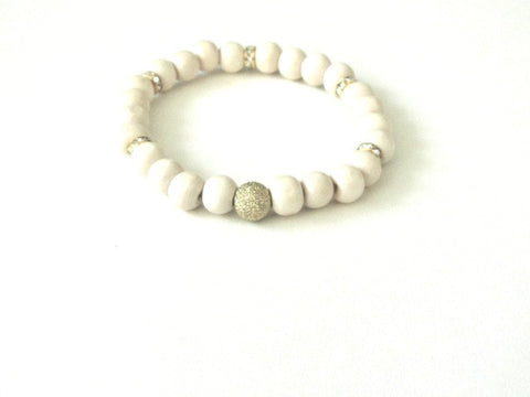 Light Wood Gold Dust Bracelet